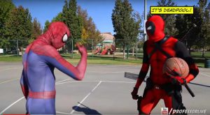 Title - Spiderman vs Deadpool Basketball