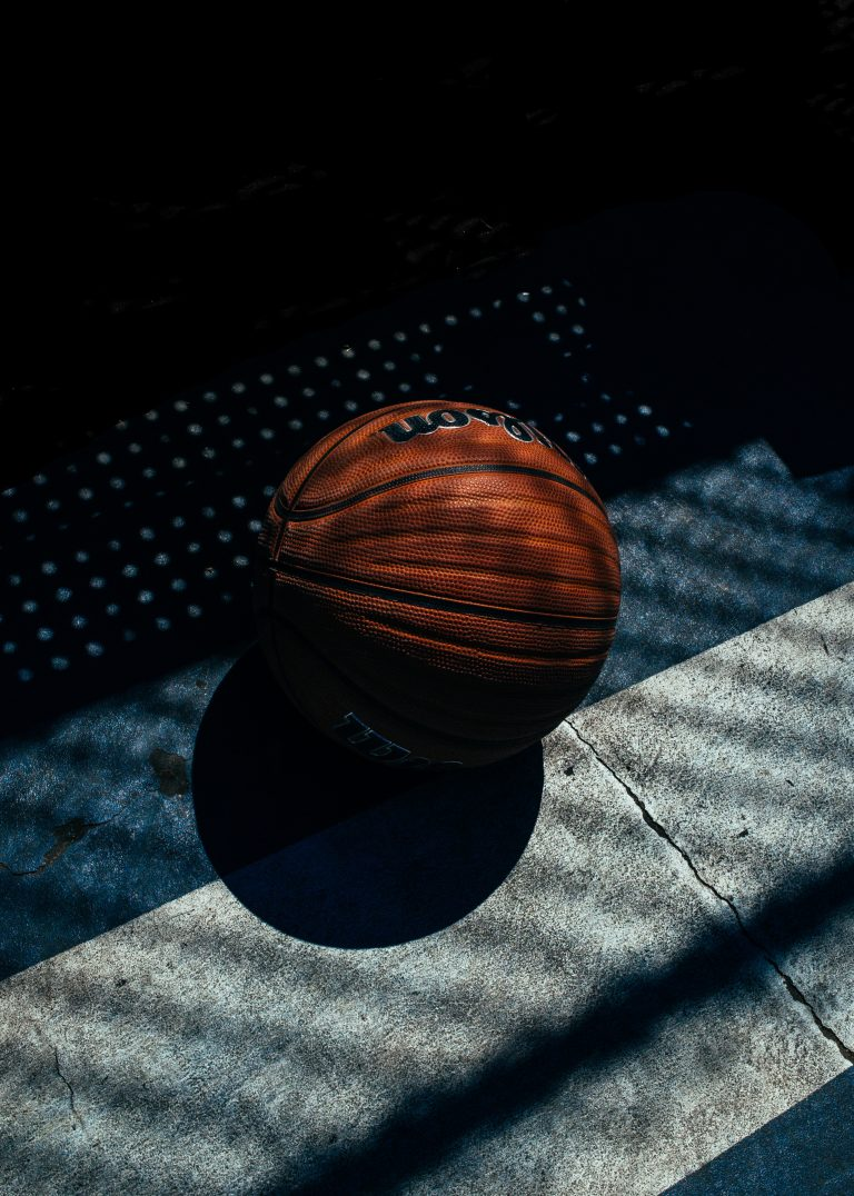 Basketball in the shadows