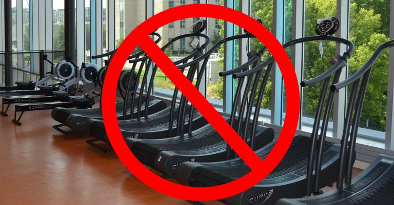 No treadmills allowed