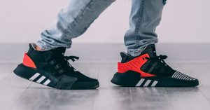 adidas shoes with red back